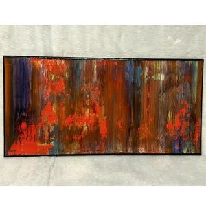 Red Blue Abstract Painting Modern Wall Art
